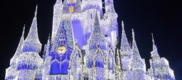 Cinderella Castle is lit up by Elsa every night. (Photo by Barb Nefer)