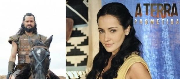 Melquias e Jessica em 'A Terra Prometida'