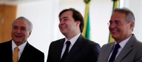 Renan Calheiros com o presidente Michel Temer