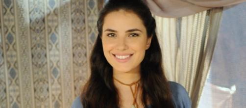 Aruna é filha de Yana em 'A Terra Prometida' (Divulgação/Record)