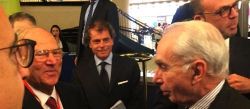 Da destra il Ministro dell'Interno Angelino Alfano, il giudice Costituzionale Giuliano Amato e,a sinistra,il Presidente della IAPB Giuseppe Castronovo