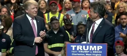 Donald Trump was endorsed by the West Virginia Coal Association. YouTube (Screencap-Right Side Broadcasting)