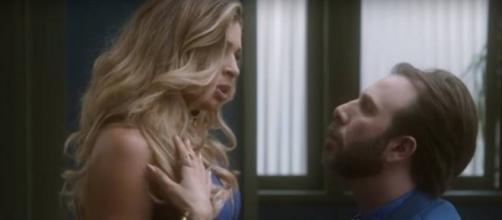 Luciane e Hércules em 'A Lei do Amor'