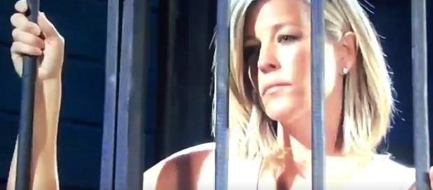 Carly visits Sonny in jail after arrest (via Twitter Jpinky39092)