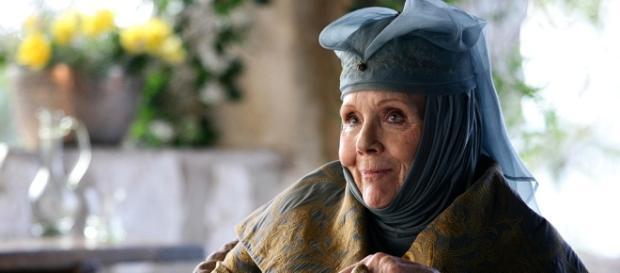 Diana Rigg, carazterizada como Olenna Tyrell en 'Juego de Tronos'