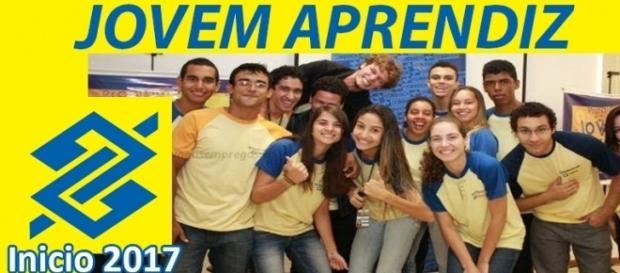 jovem aprendiz bancário no banco do brasil