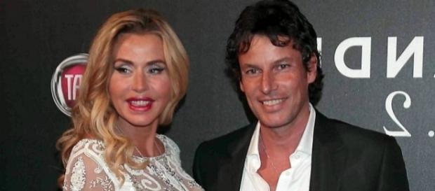 Valeria Marini con il suo ex fidanzato Patrick Bladassari.