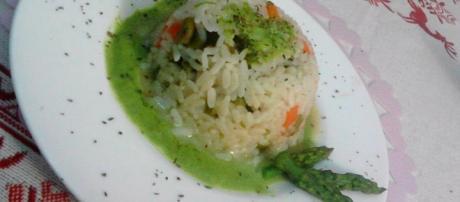 Sformatini di riso con asparagi
