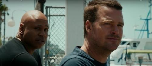Sam (LL Cool J) and Callen (Chris O'Donnell) in 'NCIS: LA'/Photo via screencap, 'NCIS: LA'