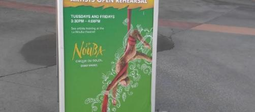See the La Nouba performers rehearsing at Disney Springs. (Photo by Barb Nefer)