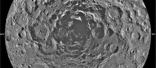 South pole of the moon (courtesy NASA)