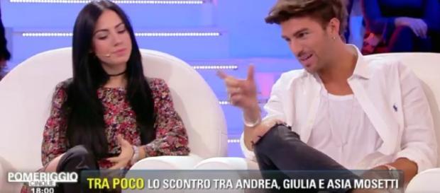 Andrea e Giulia litigano a Pomeriggio 5