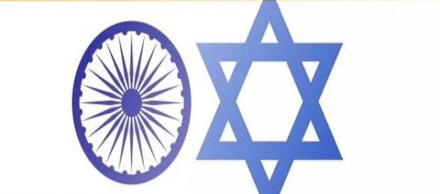 Indian and Israeli emblems that signify unity of interests.. Image source via Blasting news library