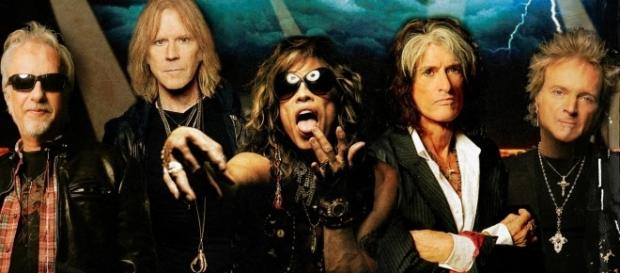 Affiche de la tournée du groupe Aerosmith en Europe