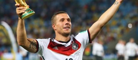 Podolski foi campeão do mundo com a Alemanha no Brasil