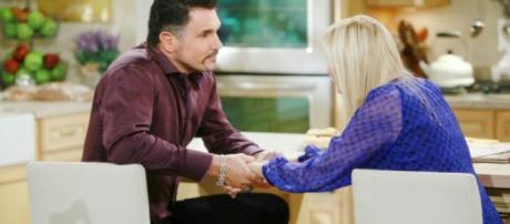 Wednesday on the Bold and the Beautiful, Bill went to see Brooke, via CBS.com