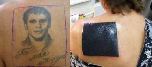 Exemplos de tatuagens que foram cobertas de forma errada