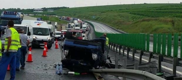Accident pe Autostrada Soarelui! Imagini arhivă