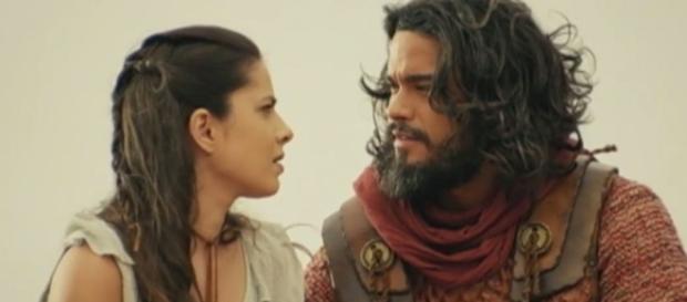 Josué impede que Aruna seja morta pelo rei de Jerusalém