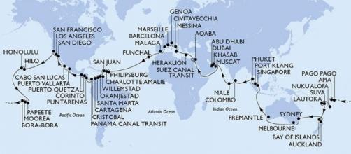 Ecco la mappa dettagliata del viaggio