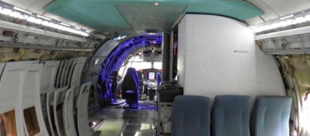 El baño de un avión, como funciona