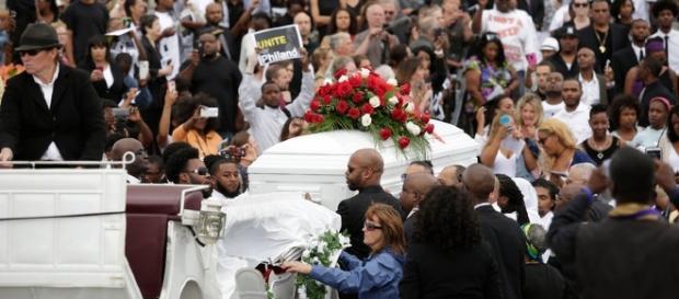Funeral of slain black Philando Castile photo from NY Times