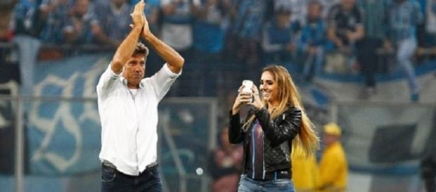 Renato Gaúcho e Carol Portaluppi