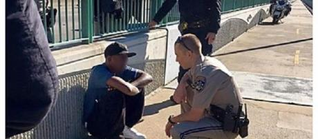 California Highway Patrol officer credited with talking man down from Benicia Bridge. (Photo provided by, used with permission of the CHP)