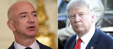 Not the best of friends - Amazon and Trump. / Photo sourced via Blasting News Library