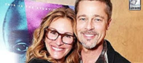 Source: Youtube Lehren News--Brad Pitt's First Public Appearance (After Divorce) With Julia Roberts |