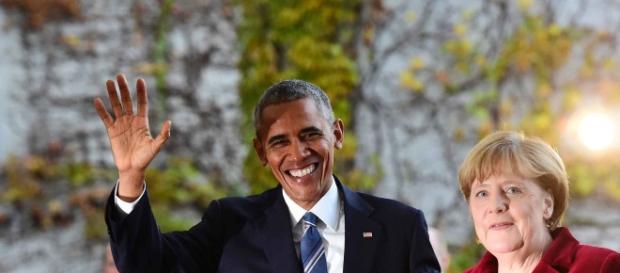 Barack Obama in vizita la Angela Merkel