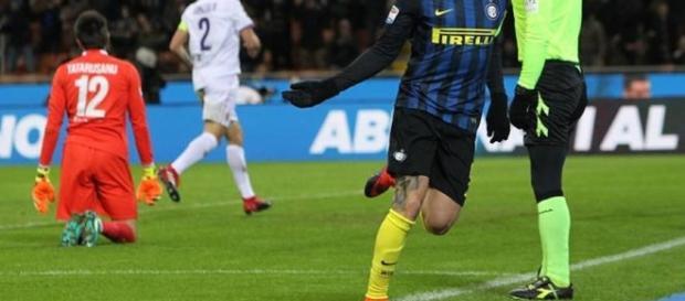 Con la doppietta alla Fiorentina, Mauro Icardi sale a quota 12 gol in campionato