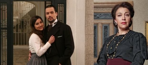 Nelle foto Manuela e German di Una Vita e Donna Francisca de Il Segreto
