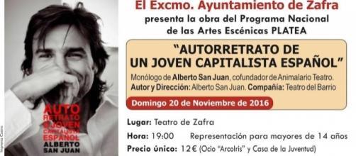 Alberto San Juan representa Autorretrato de un Joven Capitalista ... - hoy.es
