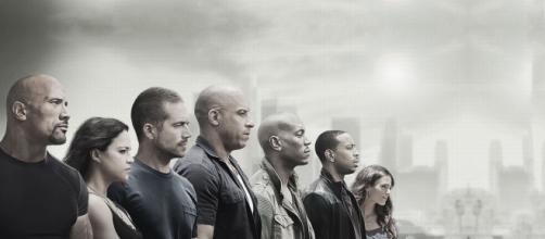 Alcuni dei protagonisti della saga, tra cui il compianto Paul Walker, il terzo da sinistra.