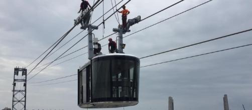 Brest a installé la première cabine de son téléphérique urbain ... - usinenouvelle.com