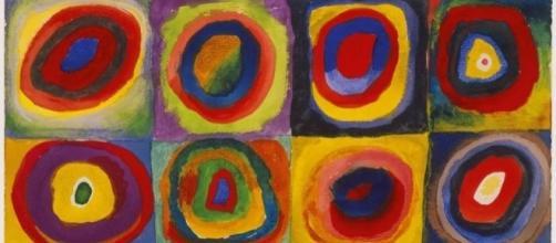 Estudio de Color con Cuadrados de Wassily Kandinsky