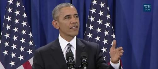 President Obama makes final spech at MacDill Airforce Base / Photo by White House/screenshot via YouTube