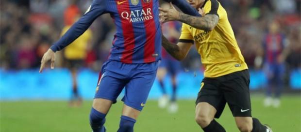 Gerard Piqué jugo parte de la segunda parte de delantero centro contra el Málaga (0-0)