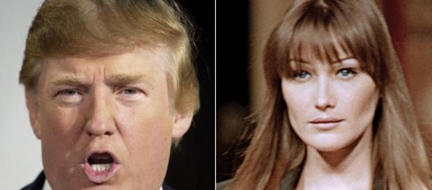 Il presidente degli Stati Uniti Donald Trump ha avuto un flirt con Carla Bruni