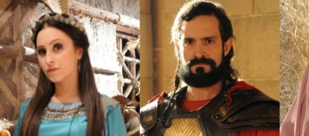 Melina e Yussuf em 'A Terra Prometida' (Divulgação/Record)