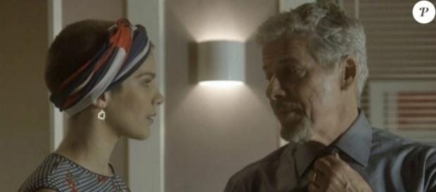 Tião planejará junto com a filha uma farsa para que Tiago não a abandone