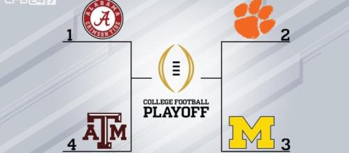 """CollegeFootball 24/7 on Twitter: """"The initial top 4 in the ... - twitter.com"""