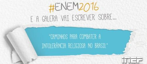 """Tema da Redação do Enem 2016: """"caminhos para combater a intolerância religiosa no Brasil"""""""