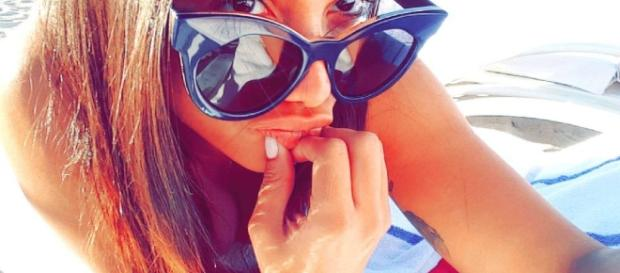 Anitta, em rede social Snapchat