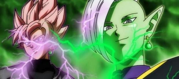 Black Rose con Zamasu antes de la fusión
