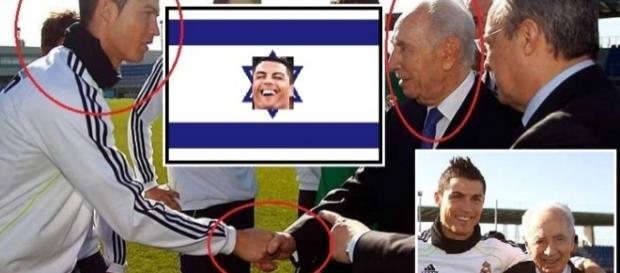 Shimon Peres, criminal de guerra, y Cristiano Ronaldo