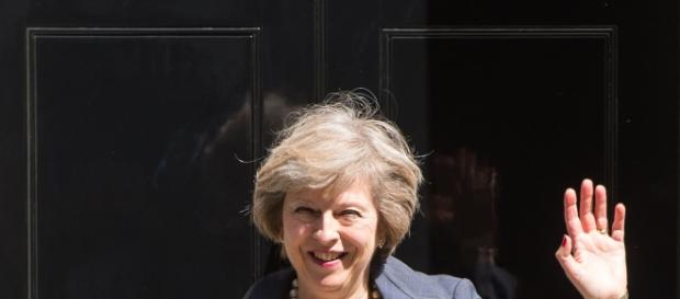 Theresa May outside number 10 Downing Street