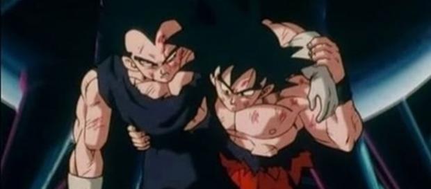 Vegeta y Goku enemigos pero siempre amigos.