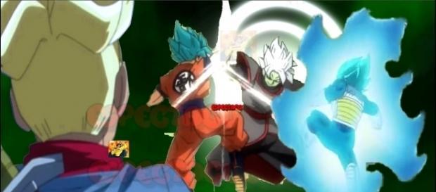 Zamasu(fusion) contra Goku y Vegeta